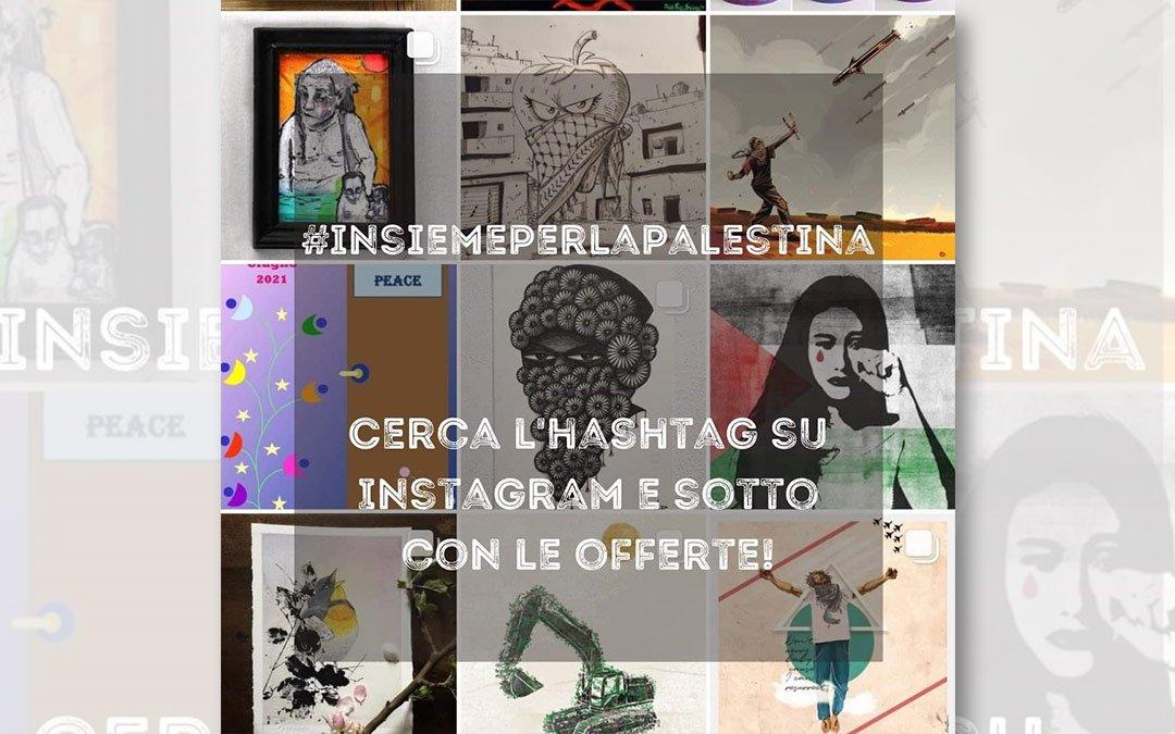 Al via su Instagram l'asta d'arte #InsiemePerLaPalestina!